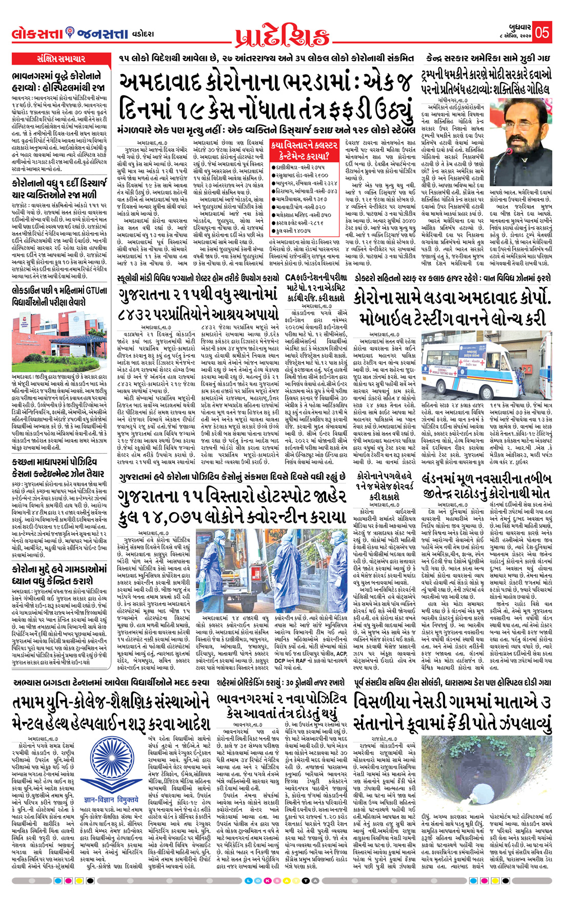 Loksatta Jansatta News Papaer E-paper dated 2020-04-08 | Page 5